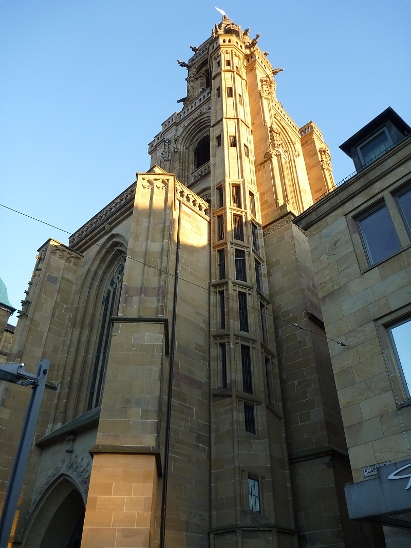 Heilbronn Kilianskirche Westturm Untere Teil Treppenturm